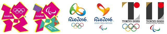 logos olímpicos  2012 2016 2020
