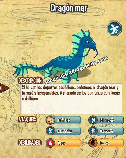 imagen de las caracteristicas del dragon mar