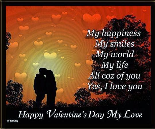Romantic Valentines Day 2015 Cards Message Greeting Pictures – Valentine Cards Message