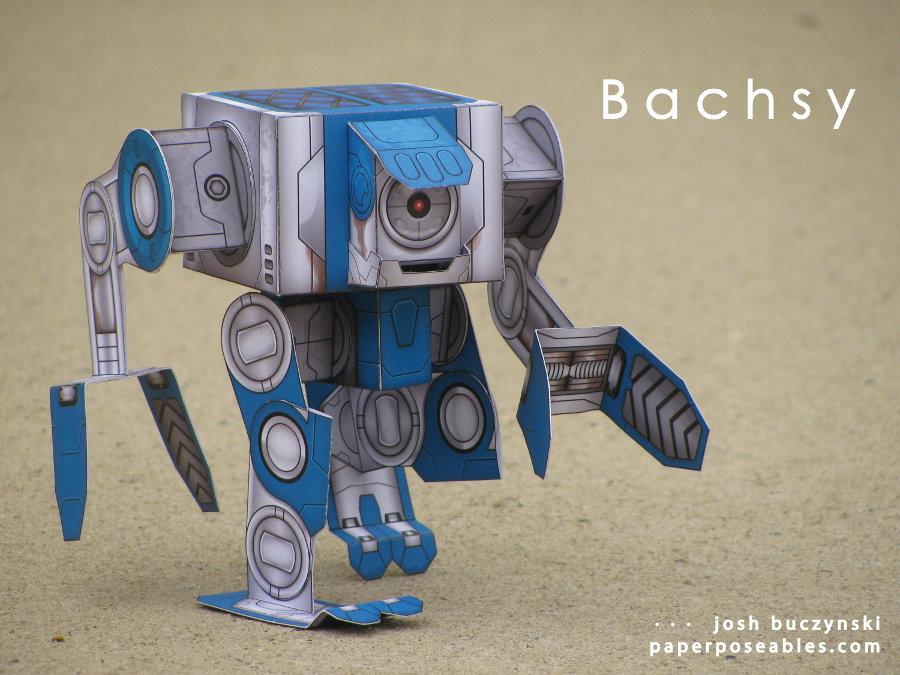 Схема робота (робот из бумаги)