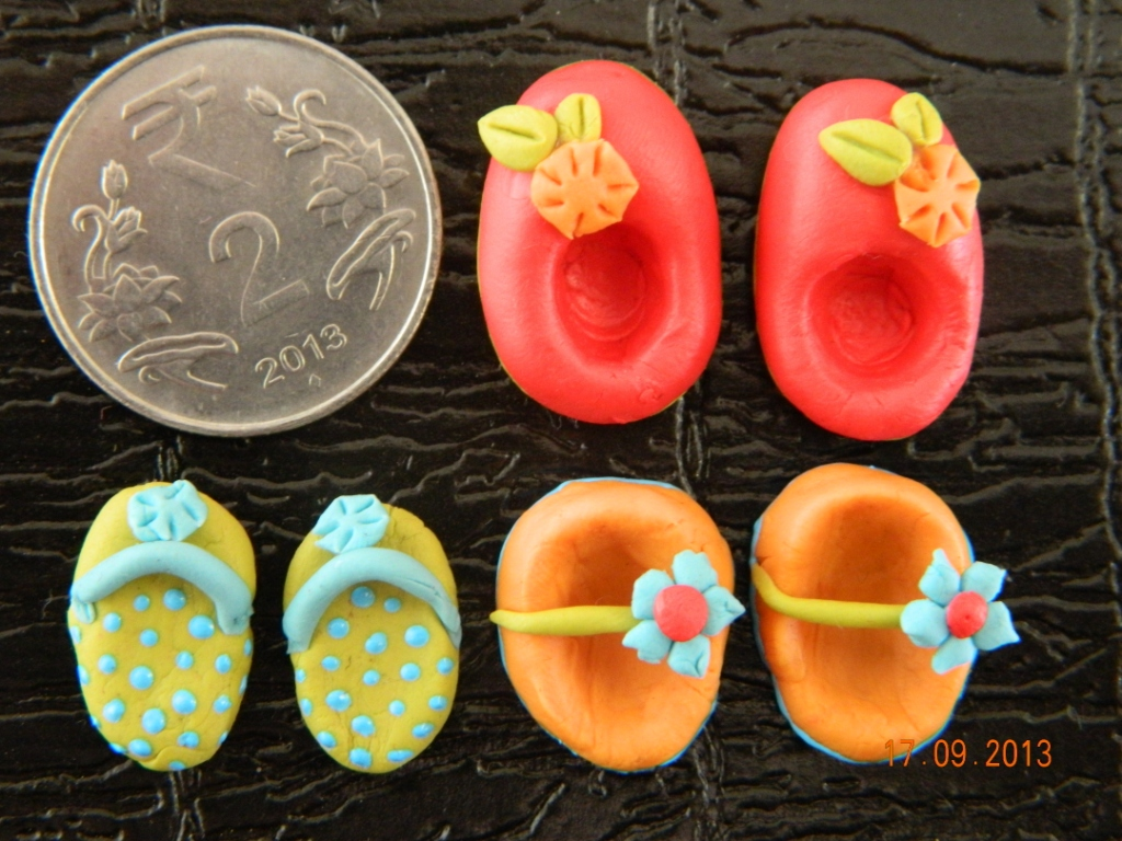Miniature baby shoes