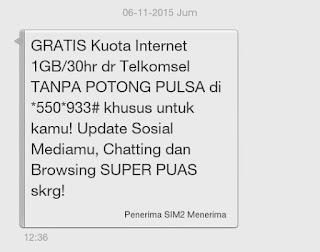 Paket Internet Gratis Dari Telkomsel