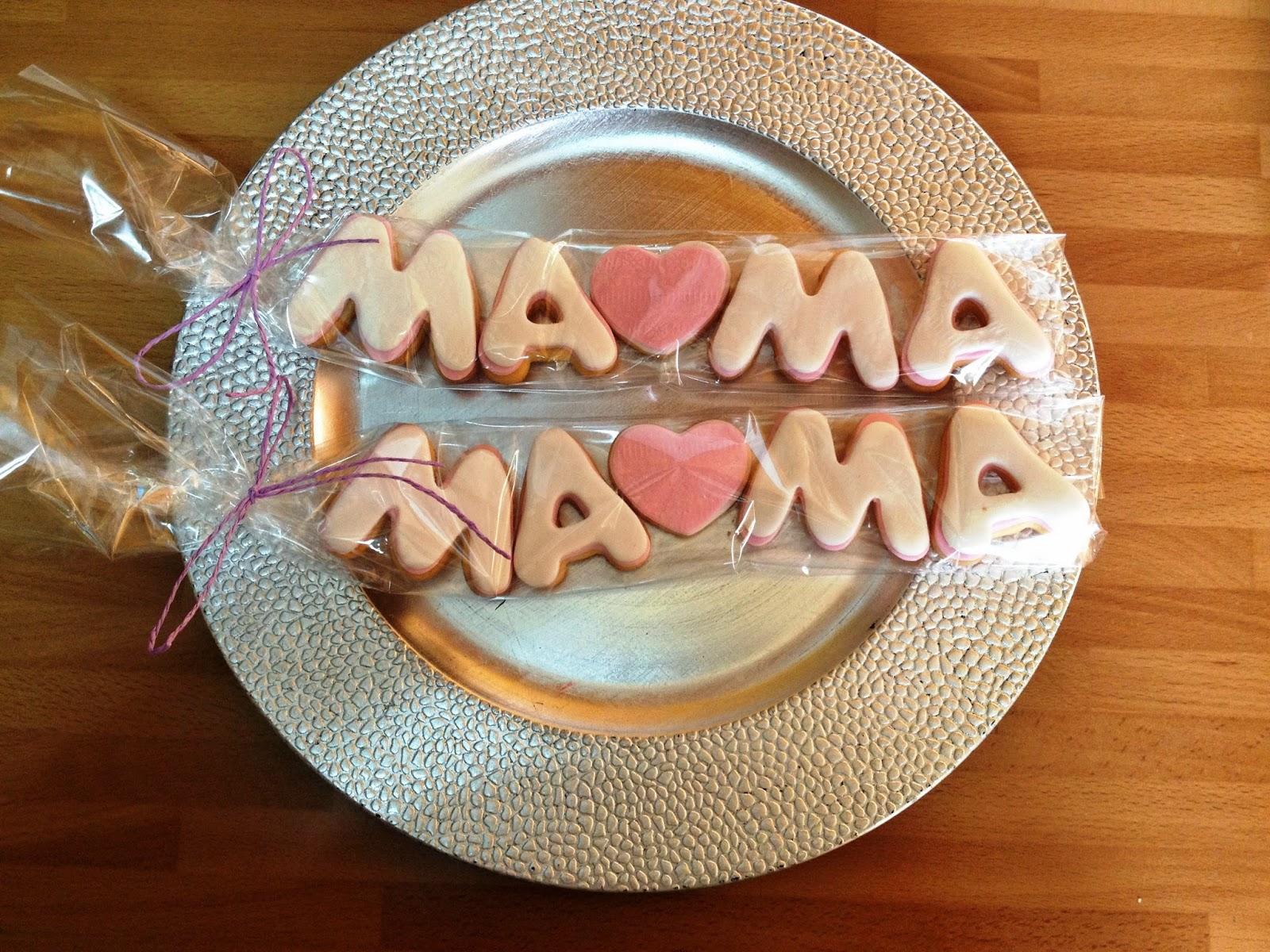 galletas decoradas, galletas día de la madre: galletas mamá; galletas mama