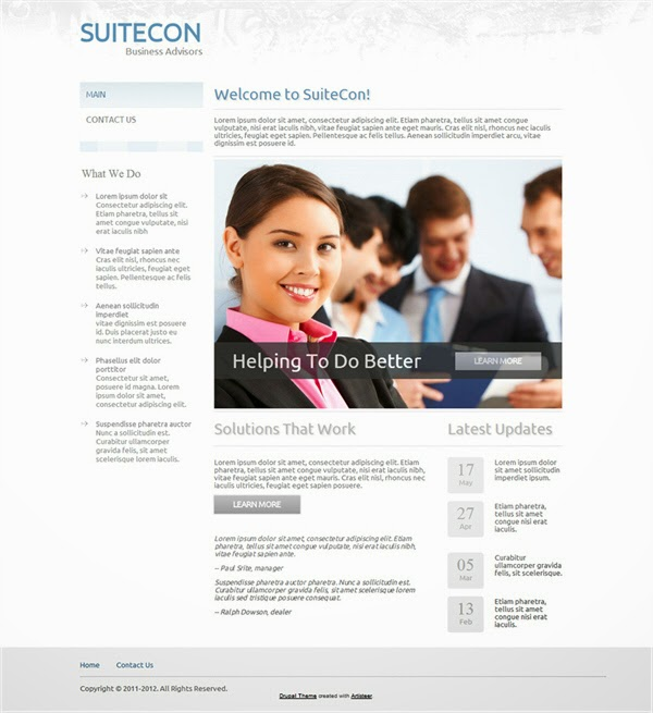 SuiteCon - Free Drupal Theme