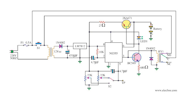 Battery Charger Schematic Diagram