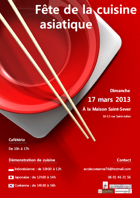 Ecole cor enne de rouen f te de la cuisine asiatique - Cours de cuisine rouen ...