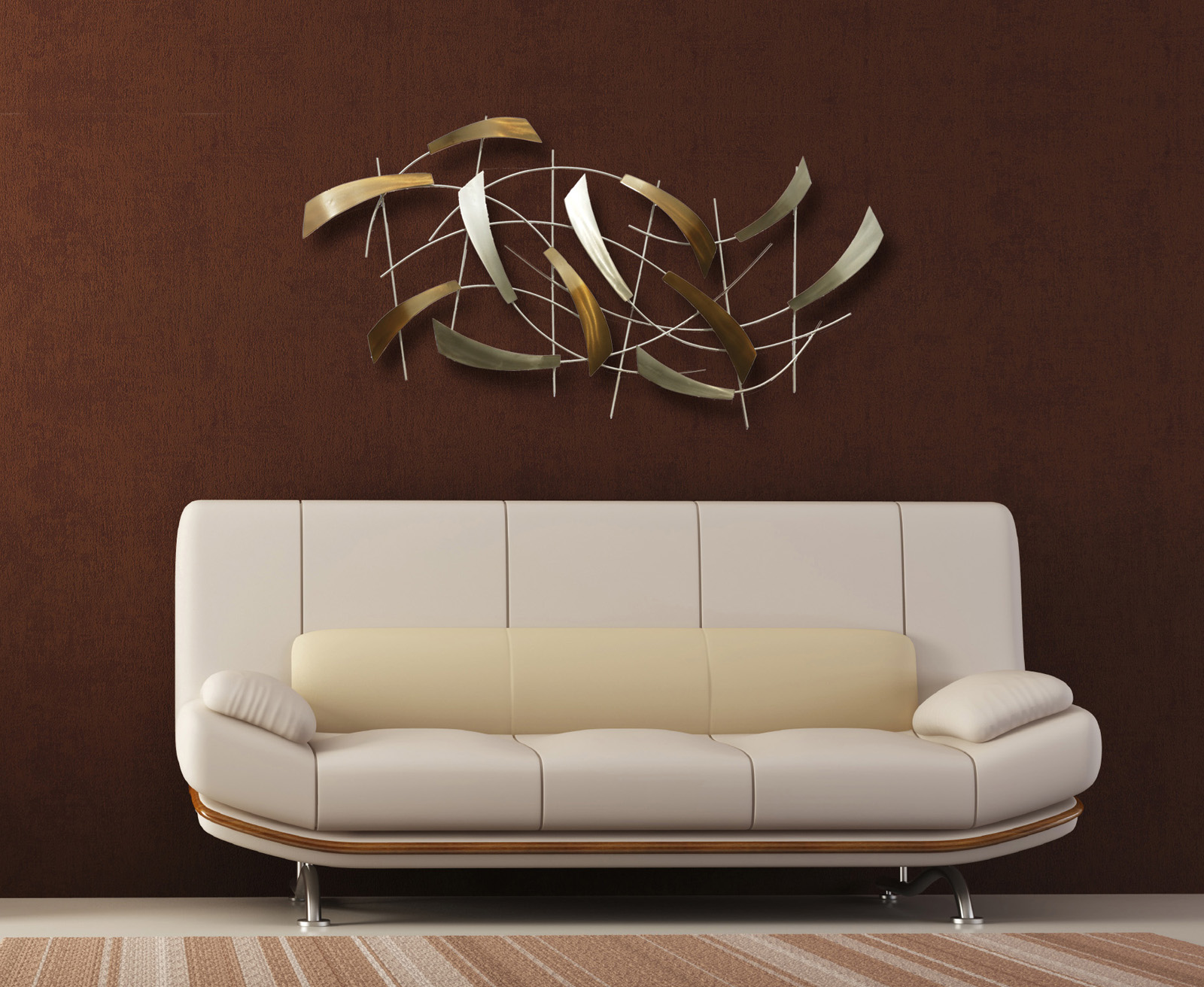 Gift home today new contemporary wall designs are for Wall accessories for living room