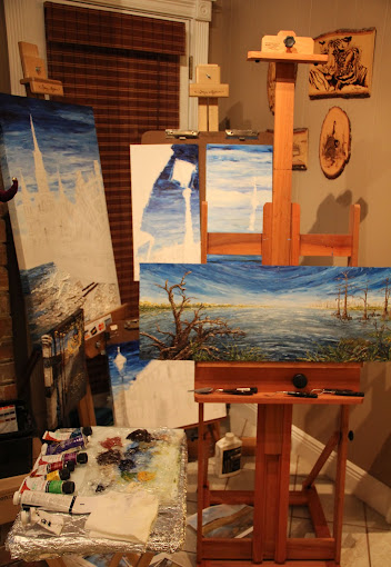 In the Studio Painting