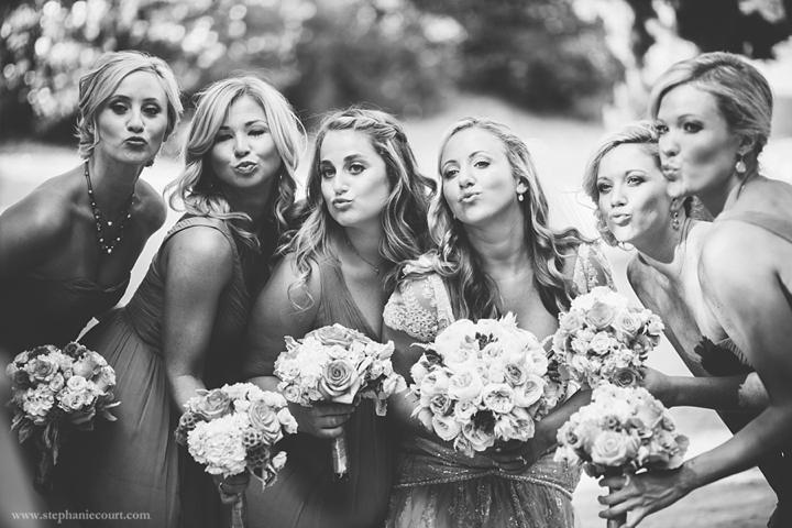 """""""bride and bridesmaids at chic outdoor los angeles wedding"""""""