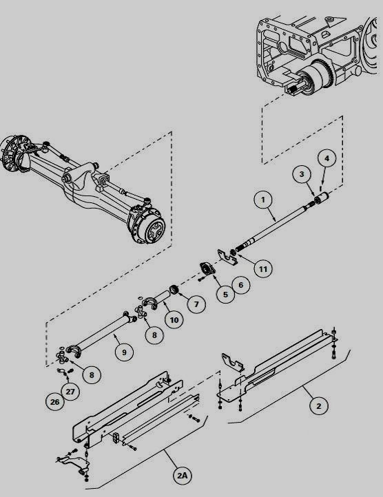 30 front axle and differential exploded view diagram