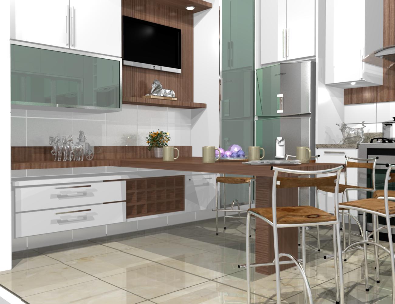 cozinhas planejadas simples bonita pequenas de luxo projeto branca #644A39 1300 1000