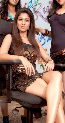 Actress Nayanthara Hot Thigh Show in Skirt Photos
