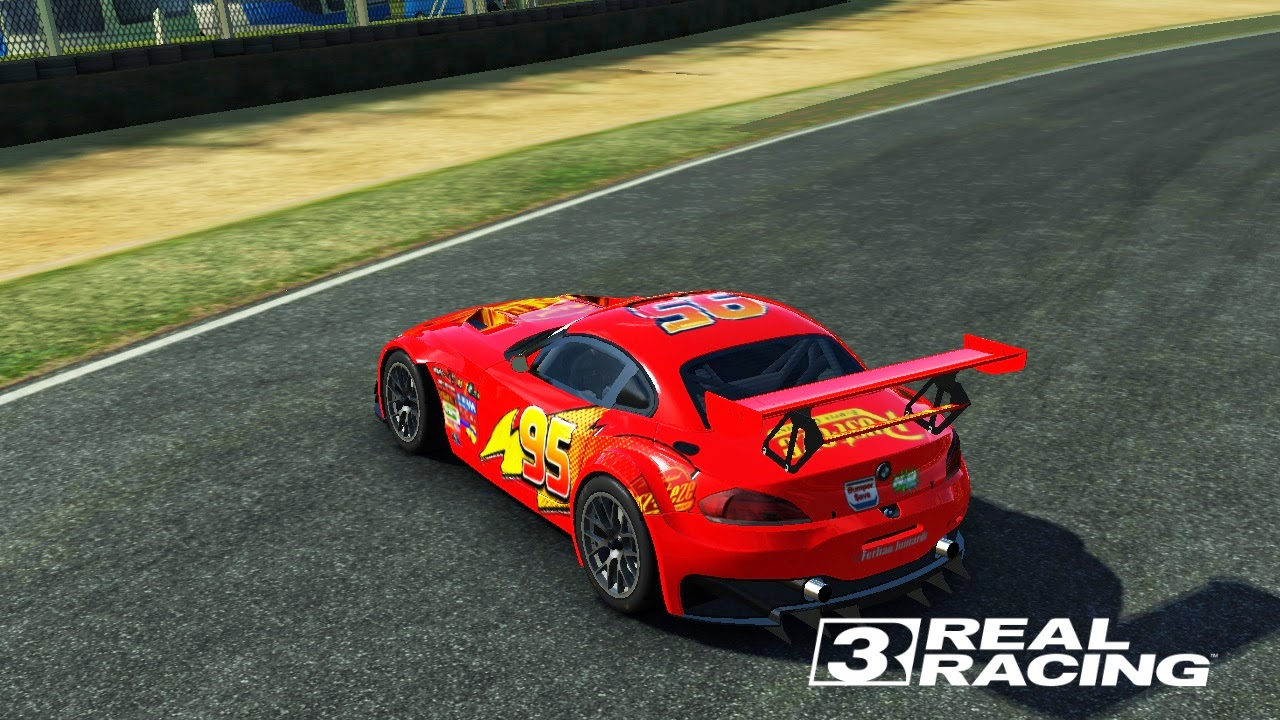 2 texture untuk mobil bmw z4 gt3 tema lightning mcqueen from cars the movie