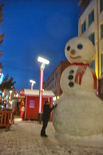 Snowman in Lapland