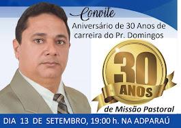 30 ANOS DE MINISTÉRIO PASTORAL