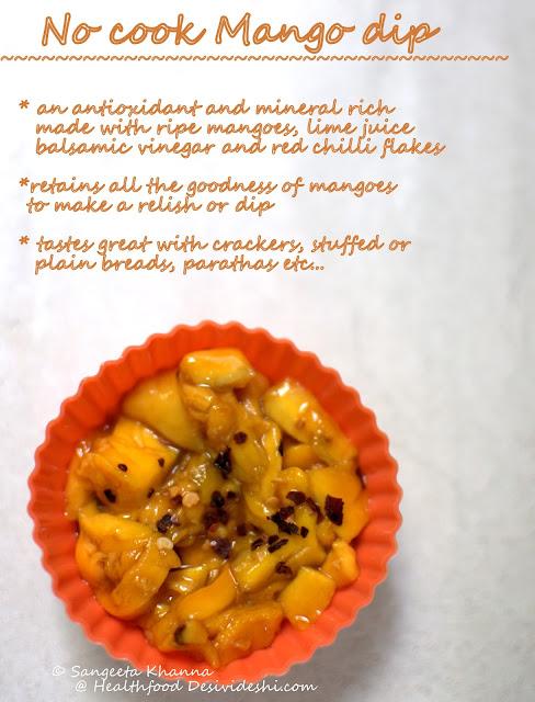 ripe mango dip