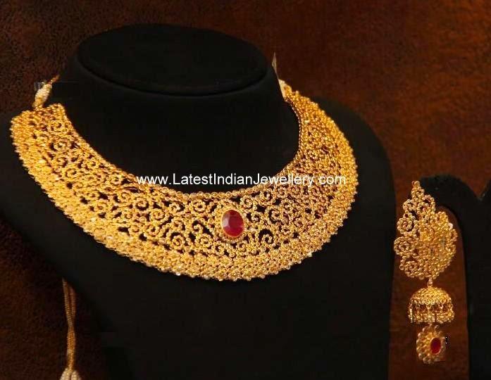 Uncut Fancy Necklace Beautiful Jhumka