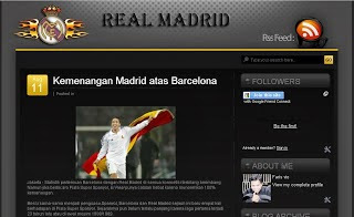 Real Madrid Blogger Template