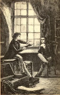ilustración vintage caballeros