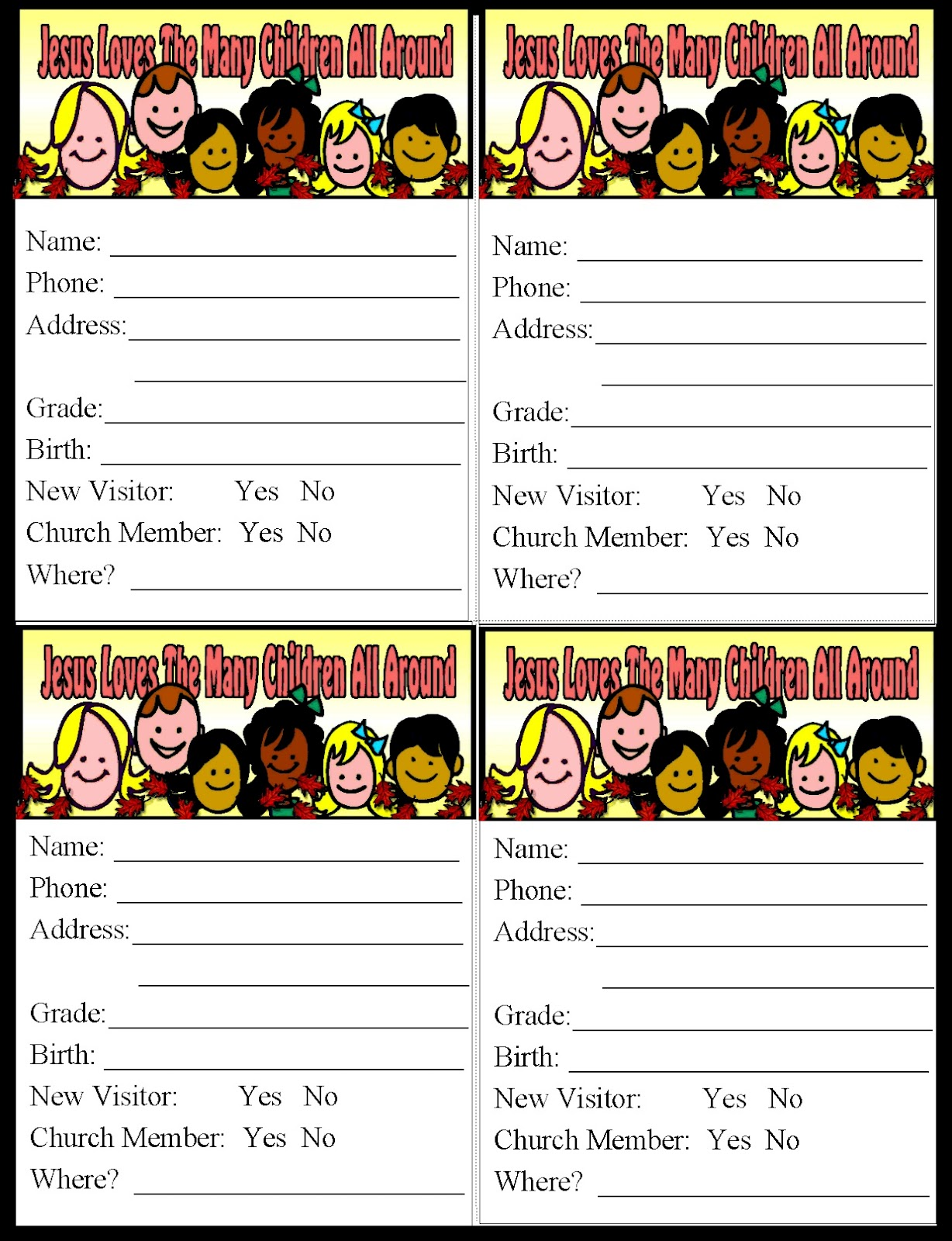 free pledge card template