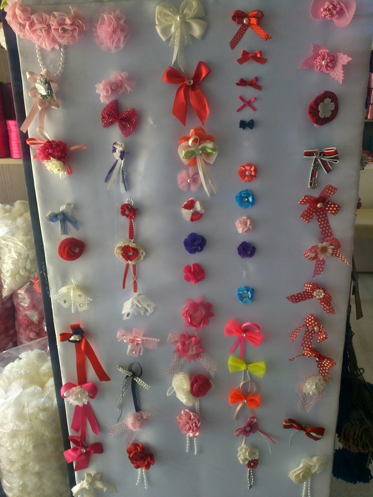 tekstil firmaları aksesuarları - kumaş yapay çiçekler - süs çiçekleri örnekleri