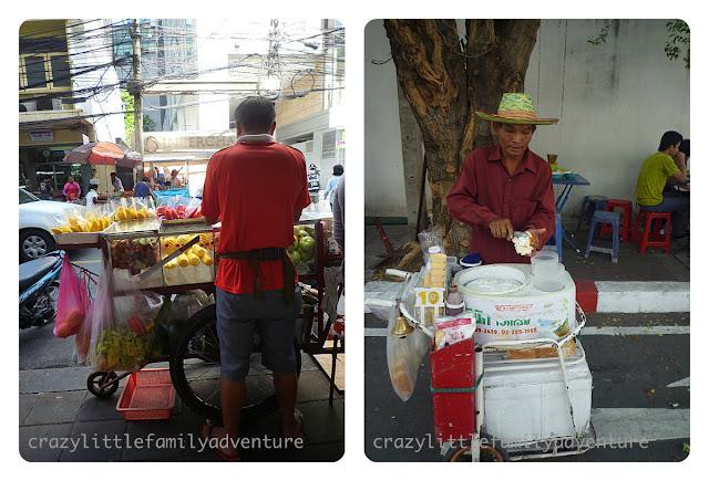 bangkok fresh fruit, coconut ice cream