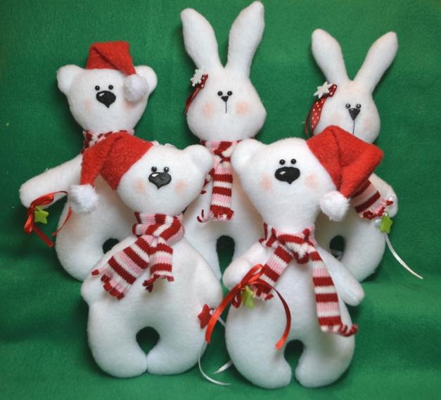 Новогодние игрушки из ткани своими руками мк