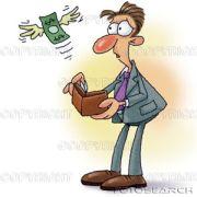 salário dinheiro voando