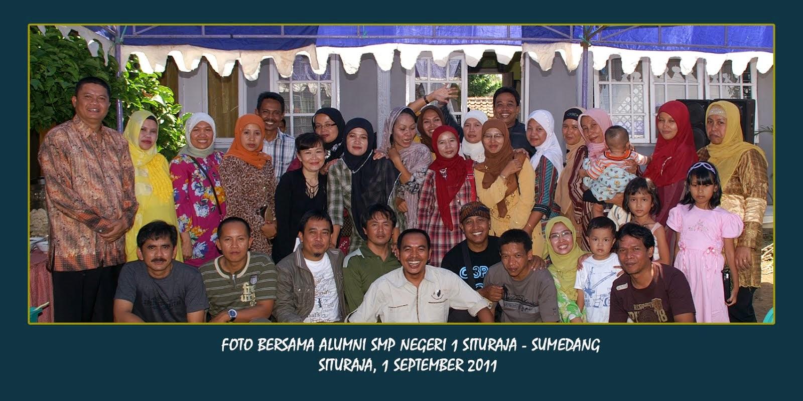 Bersama alumni SMPN 1 Situraja-Sumedang.