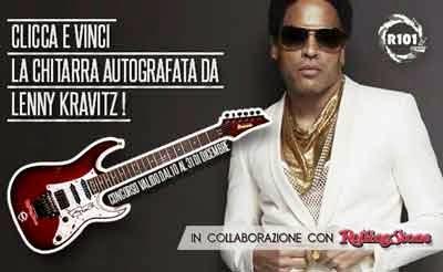 chitarra autografata da Lenny Kravitz
