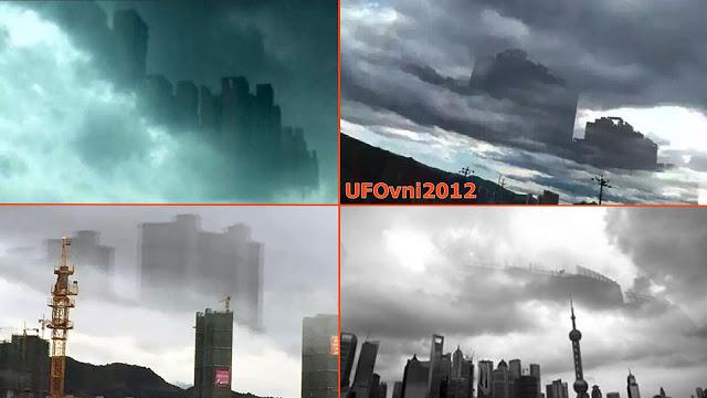 Chine: Mystérieux City énorme flottant dans les nuages Plus de Foshan Guangdong
