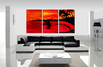 "Abstract Painting ""Tropical Sunset"" by Dora Woodrum"