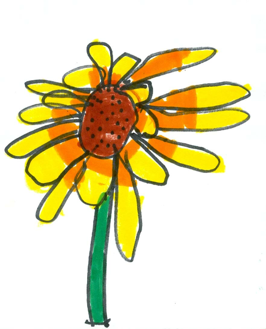 drawing flowers the children draw - Drawing For Small Children