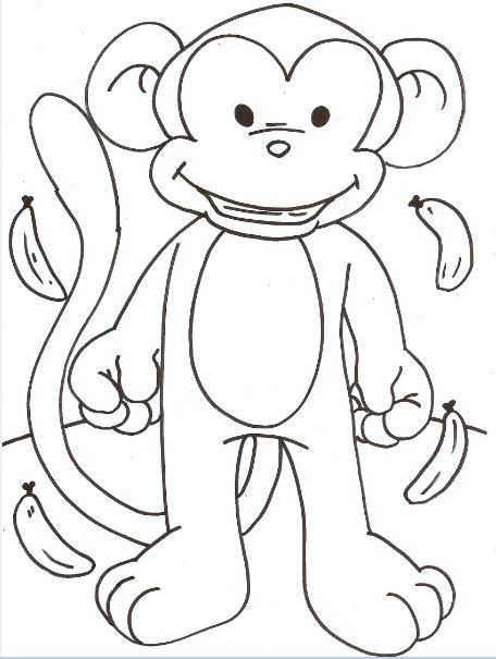 Desenhos Para Colorir diversos animais tucano, macaco, galo, rato e o patinho