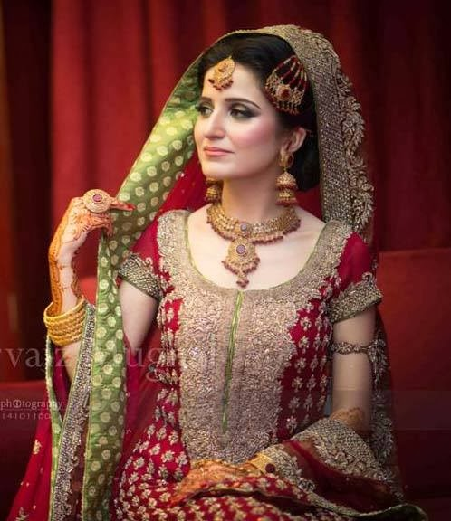Latest Bridal Make Up 2014 Special Pakistani Dulhan