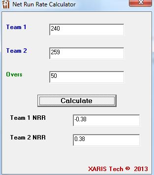 Get Net Run Rate Calculator – Excel App