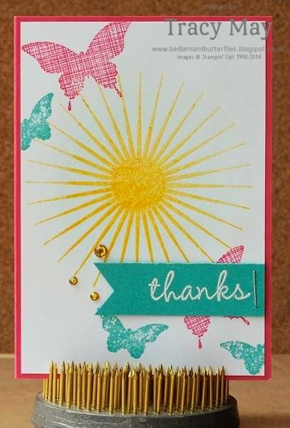 stampin up uk independent demonstrator Tracy May kinda eclectic heat embossed rubber stamps