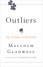 Outliers by Malcolm Gladwell book cover