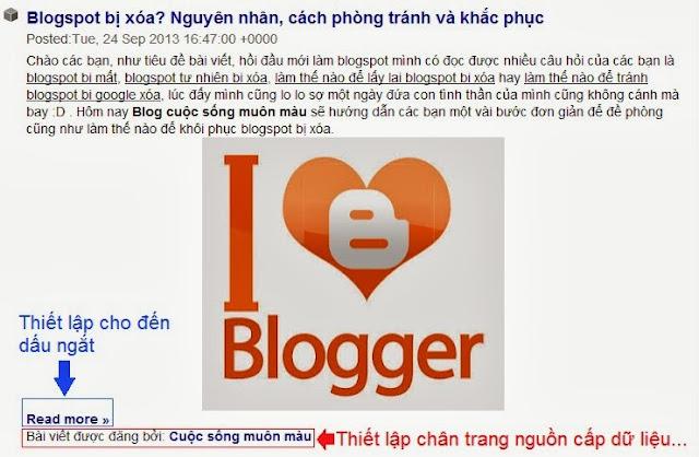 Cài đặt và bảo vệ blogspot