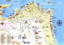 Detail map of tour of kuwait city 2012