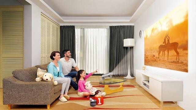BenQ home video Projector W1070+ W1080ST+ living room scenario