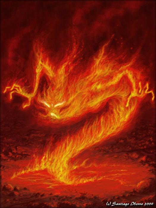 Flamma Ignatis, Las Llamas Fire_elemental