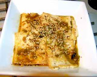 Chinese vegetarian recipe: tofu with sesame sauce