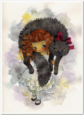 Muñeca con su mascota muñecas japonesas