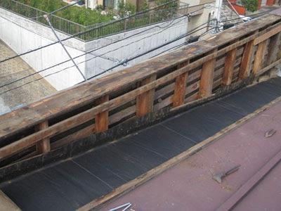 横浜市 港北区 笠木 雨染み 解体工事 雨漏り修理