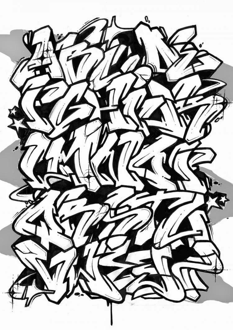 Arte De Graffiti Abecedario Del Graffiti