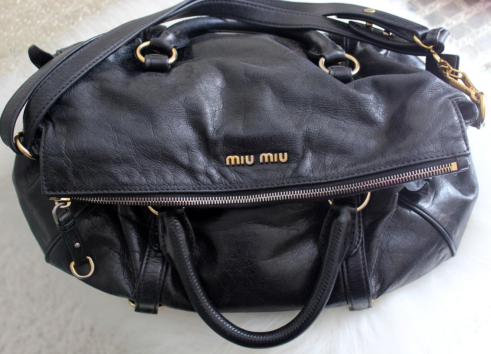 Miu Miu Bow Bag Black