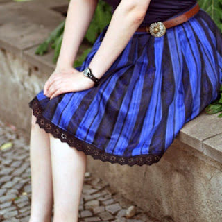 Blauer Dirndelrock