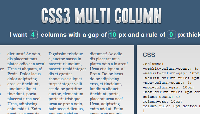 CSS3 Multi-column Layouts