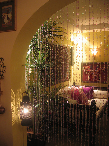 bohemian pages remember those beaded curtains. Black Bedroom Furniture Sets. Home Design Ideas